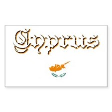 Cypriot flag Rectangle Decal