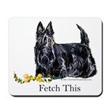 Scottish Terrier Holiday Dog Mousepad