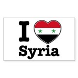 I love Syria Rectangle Decal