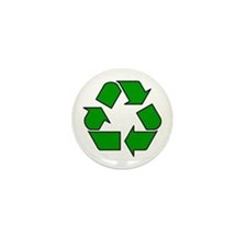 Recycling Symbol Mini Button (10 pack)