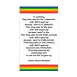 IN GERMANY, THEY FIRST CAME.. Sticker (Rectangular