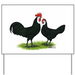 Whitefaced Spanish Chickens Yard Sign