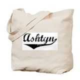 Ashtyn Vintage (Black) Tote Bag