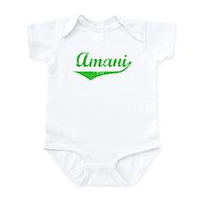 Amani Vintage (Green) Infant Bodysuit