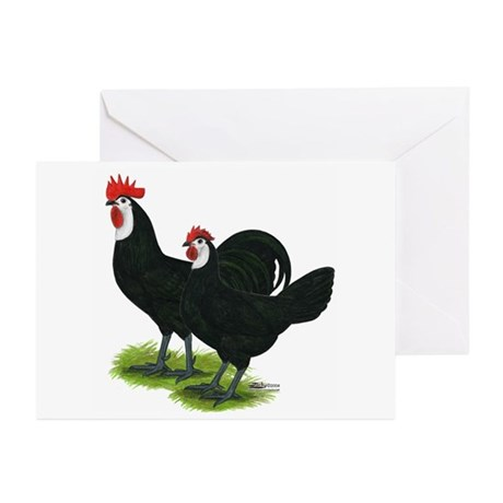 Spanish Cock and Hen Greeting Cards (Pk of 10)