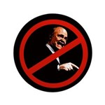 Very Big Button Against Fred Thompson 100 Pack