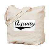 Ayana Vintage (Black) Tote Bag