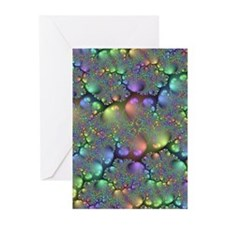 Metallic Stones Fractal Greeting Cards (Pk of 20)
