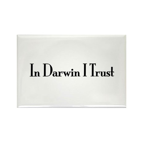 In Darwin I Trust Rectangle Magnet