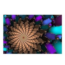 Gold Emerald Brooch Fractal Postcards (Package of