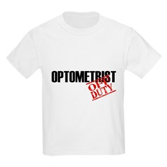 Off Duty Optometrist Kids Light T-Shirt