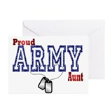 army aunt Greeting Cards (Pk of 10)