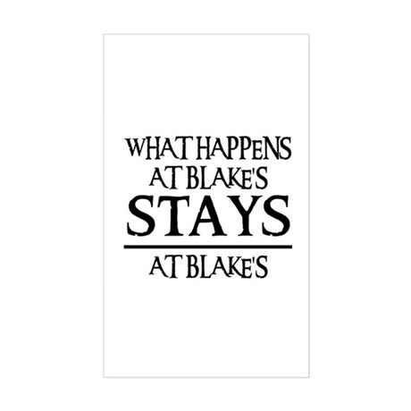 STAYS AT BLAKE'S Rectangle Sticker