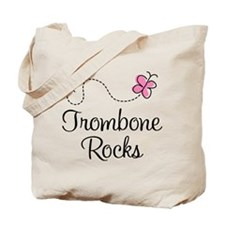 Trombone Rocks Tote Bag