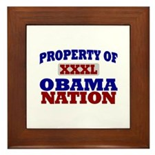 Obama Nation Framed Tile