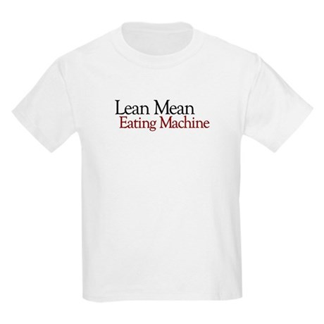 Lean Mean Eating Machine Kids Light T-Shirt