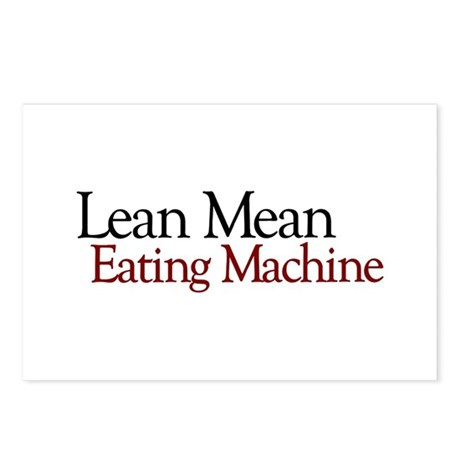 Lean Mean Eating Machine Postcards (Package of 8)