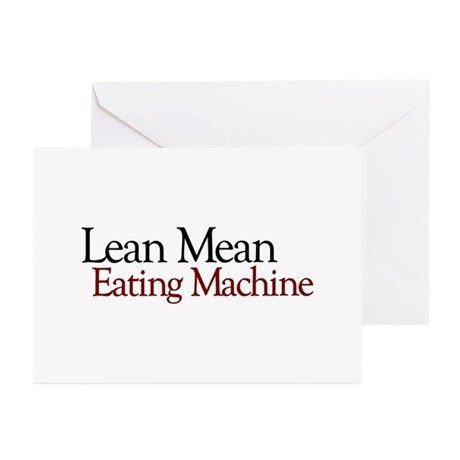 Lean Mean Eating Machine Greeting Cards (Pk of 10)