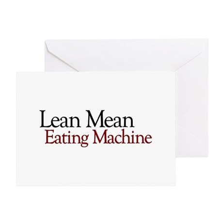 Lean Mean Eating Machine Greeting Card