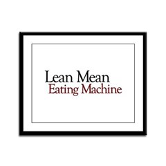 Lean Mean Eating Machine Framed Panel Print