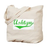 Ashtyn Vintage (Green) Tote Bag