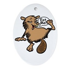 Beaver - Colour + Lines Keepsake (Oval)