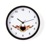Flame Heart Tattoo Wall Clock