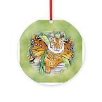Monarch Tiger Ornament (Round)