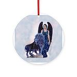 Black Lion Ornament (Round)