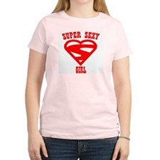 Super Sexy Girl Women's Pink T-Shirt