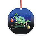 Christmas Dragon Ornament (Round)
