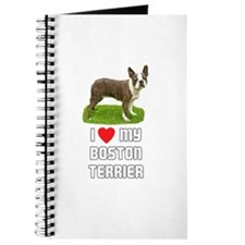 I Love My Boston Terrier Journal
