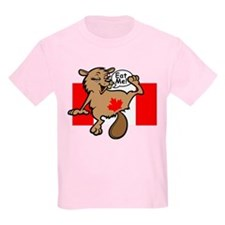 Beaver - Colour + Flag Tiny + Maple Leaf Kids T-Sh