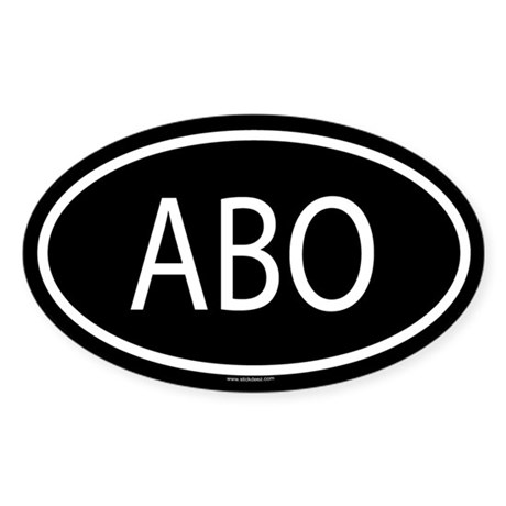 ABO Oval Sticker