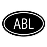 ABL Oval Decal