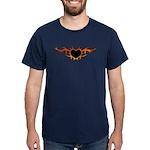 Flame Heart Tattoo Dark T-Shirt
