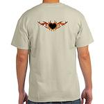 Flame Heart Tattoo Light T-Shirt