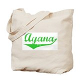 Ayana Vintage (Green) Tote Bag
