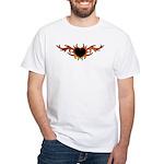 Flame Heart Tattoo White T-Shirt