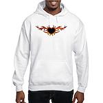 Flame Heart Tattoo Hooded Sweatshirt