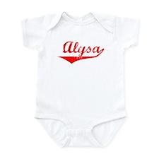 Alysa Vintage (Red) Onesie