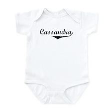 Cassandra Vintage (Black) Infant Bodysuit