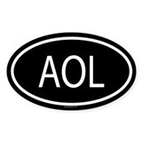AOL Oval Decal