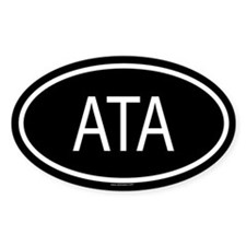 ATA Oval Decal