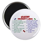 "Mastiff Property Laws 2 2.25"" Magnet (100 pack)"