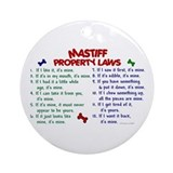 Mastiff Property Laws 2 Ornament (Round)