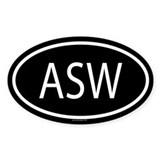 ASW Oval Décalcomanies