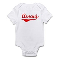 Amani Vintage (Red) Infant Bodysuit