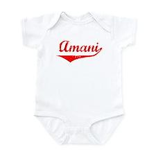 Amani Vintage (Red) Onesie