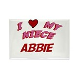 I Love My Niece Abbie Rectangle Magnet (10 pack)